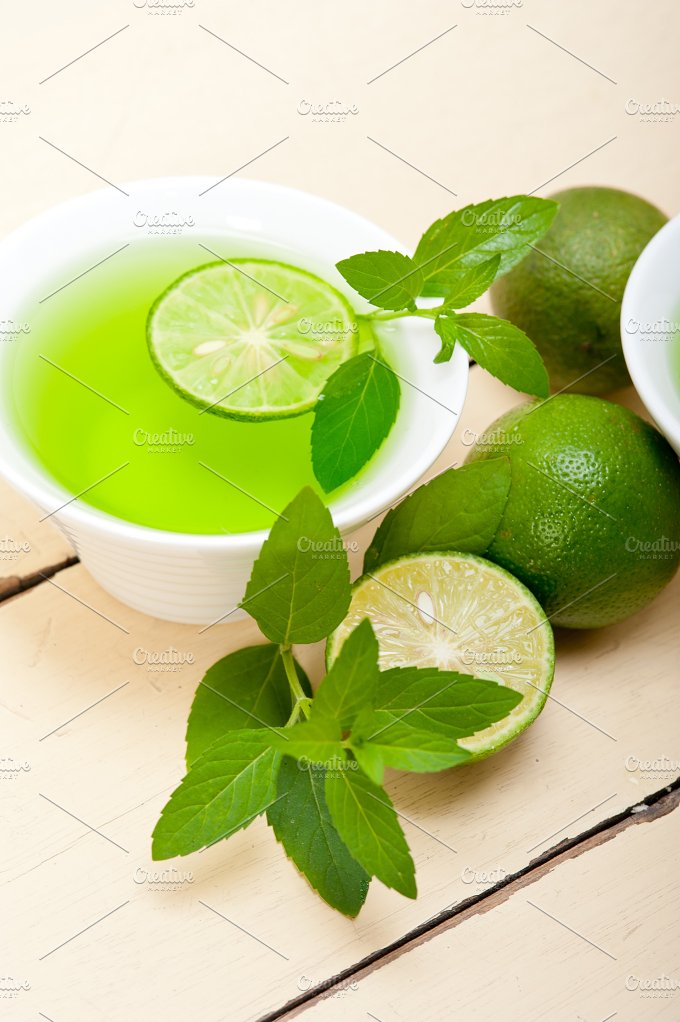 mint tea infusion with lime 050.jpg - Food & Drink