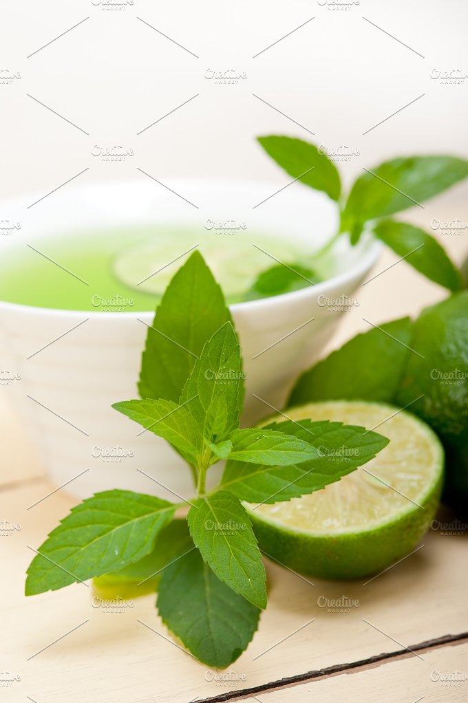 mint tea infusion with lime 054.jpg - Food & Drink
