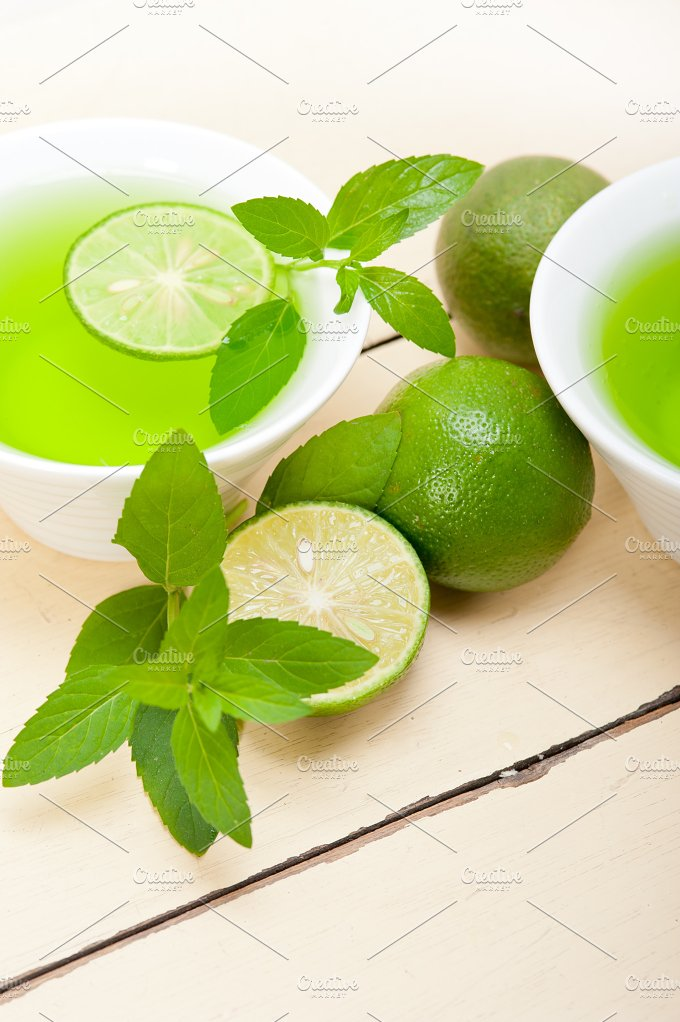 mint tea infusion with lime 056.jpg - Food & Drink