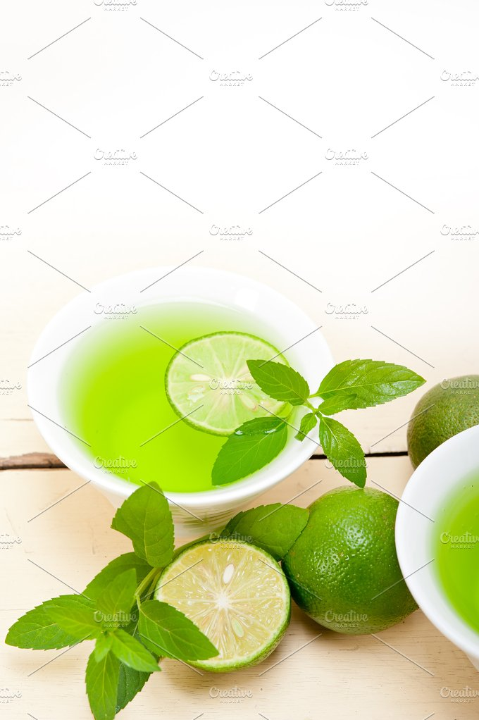 mint tea infusion with lime 058.jpg - Food & Drink