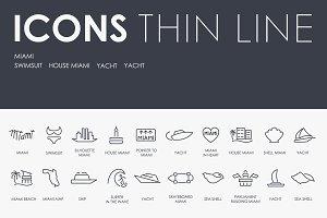 Miami thinline icons
