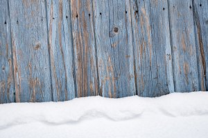 Rustic Wood Snow Background v1