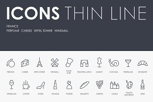 France thinline icons
