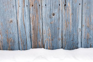 Rustic Wood Snow Background v2