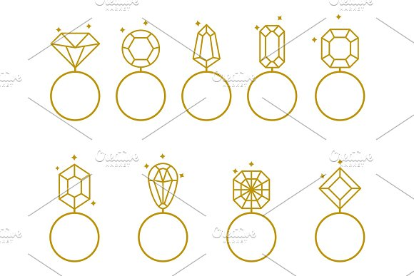 Wedding Rings Icon Bride And Groom Jewelery Sign