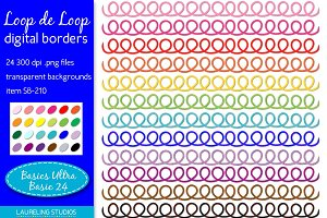 loop digital clip art borders