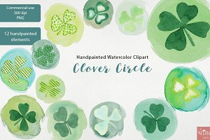 Watercolor Clipart St Patricks Day