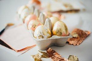 Modern style easter eggs