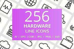 256 Hardware Line Icons