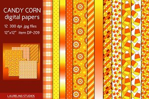 CANDY CORN digital paper
