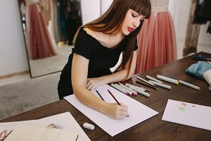 Fashion designer working