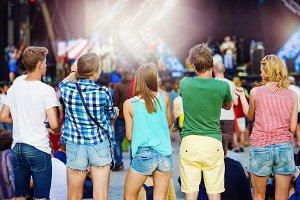 Beautiful teens at summer festival