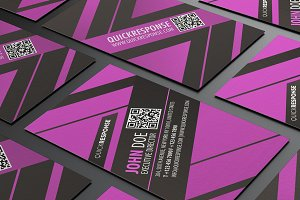 Neon Amethyst business card design
