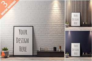 Mockup Poster with various frames