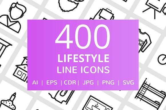 400 Lifestyle Line Icons