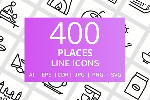 400 Places Line Icons