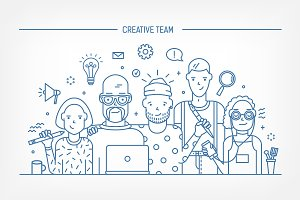 Creative business team concept
