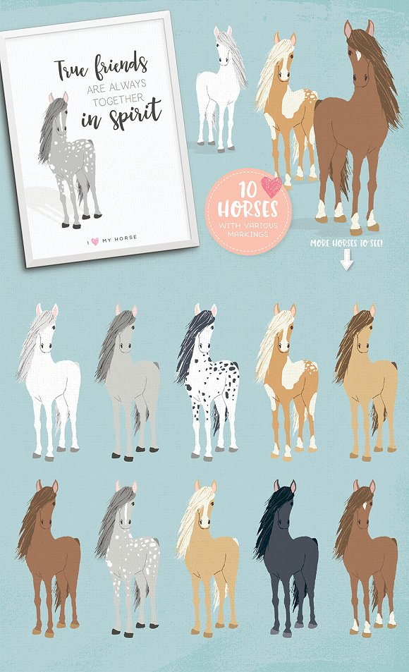 Cats, Dog breeds & Horses: 165 pets in Illustrations - product preview 6