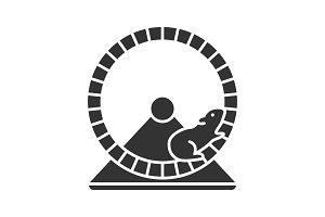 Hamster wheel glyph icon