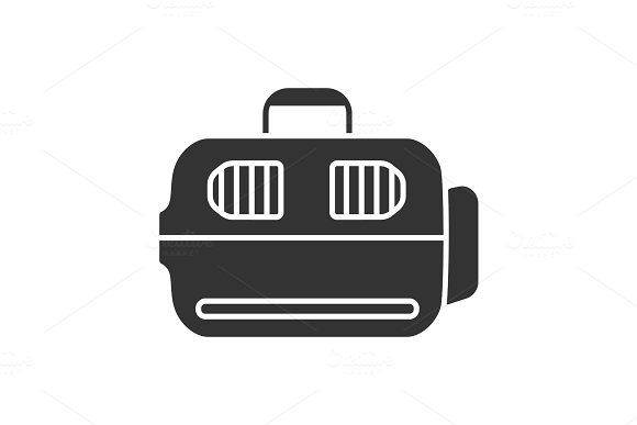 Pet Carrier Glyph Icon