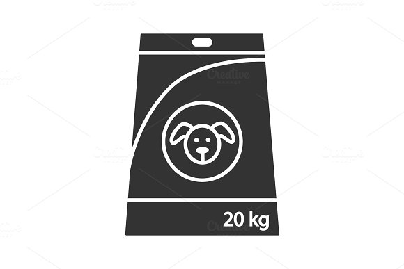 Dog's Food Glyph Icon