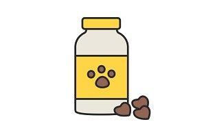 Pet medicine color icon
