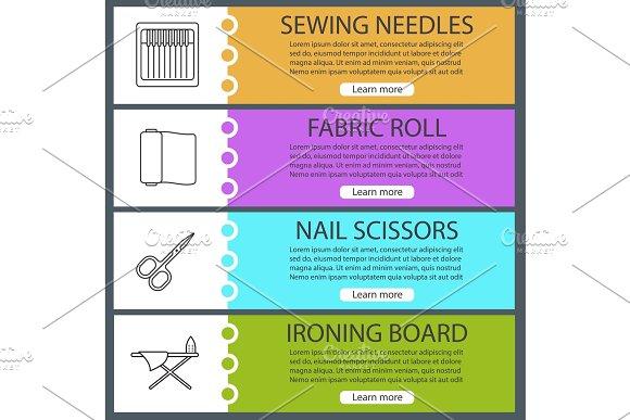 Tailoring web banner templates set