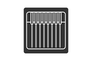 Sewing machine needles pack glyph icon