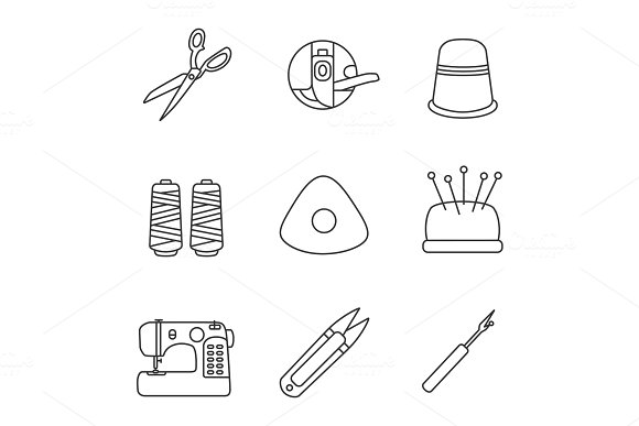 Tailoring Linear Icons Set
