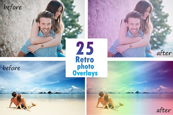 25 Amazing Retro Photo Overlays