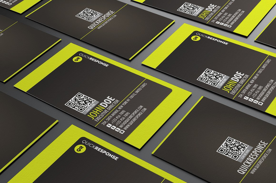 Neon Lime Green Business card design ~ Business Card Templates ...