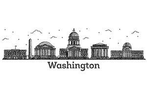 Engraved Washington DC USA City