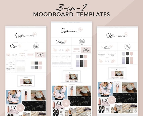 3-in-1 Brand Board Templates