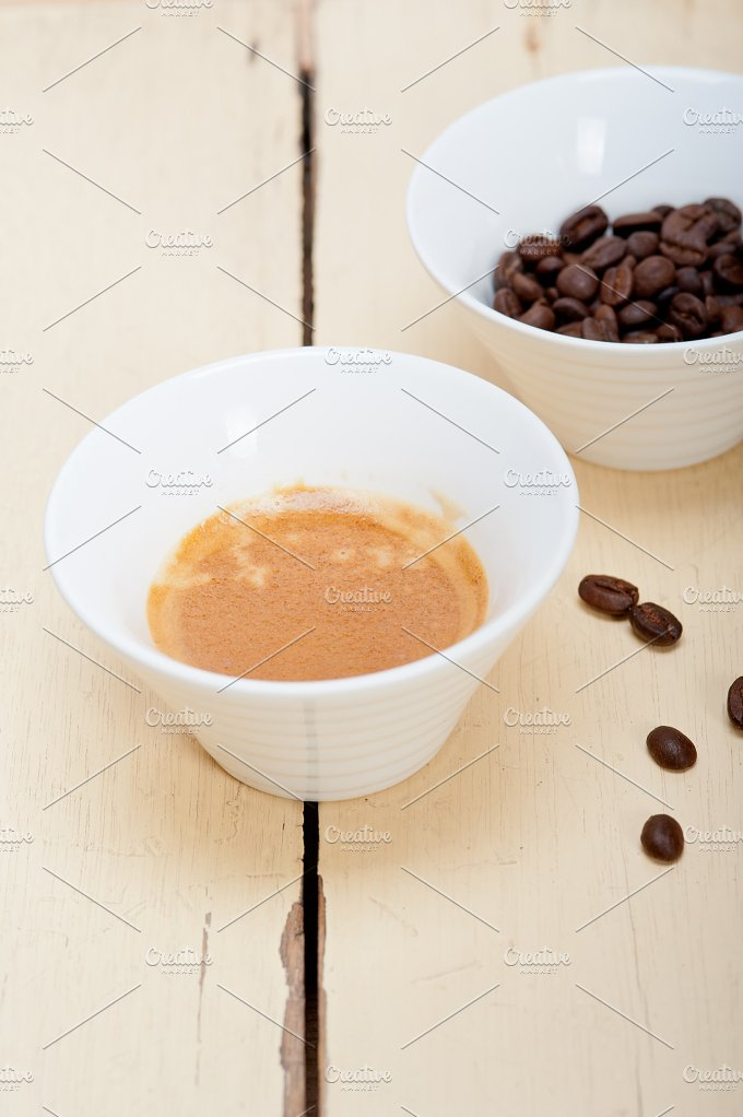 espresso coffee and beans 002.jpg - Food & Drink