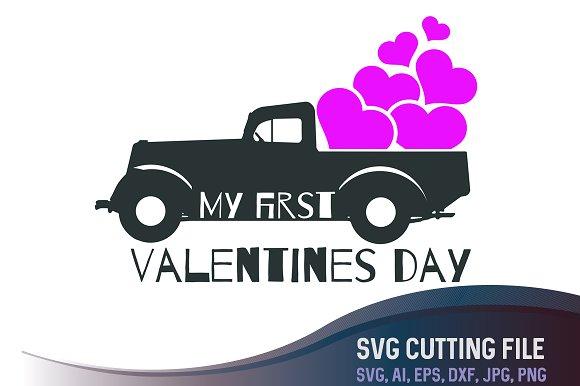 My First Valentines Day Svg Illustrations Creative Market