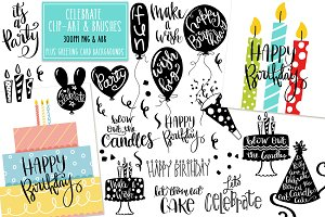 Celebrate Design Elements & Brushes