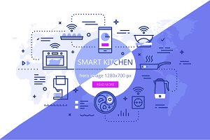 Smart kitchen banner set