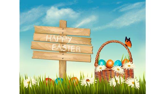 Spring Easter background.
