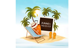 Summer holidays background. Vector