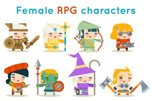 Cute female RPG characters fantasy