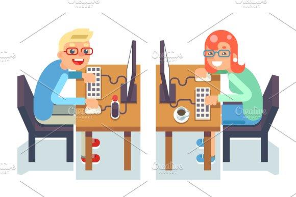 PC Monitor Programmer Gamer Table