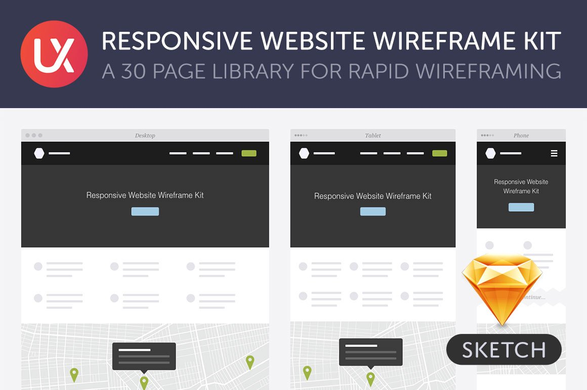 Responsive Website Wireframe Kit