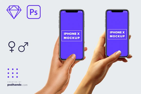 Download iPhone in Hand mockup Multi Device 5