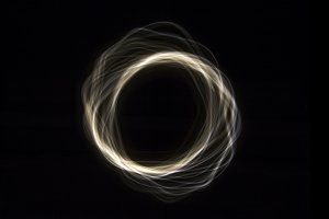Parabolas Light Painting