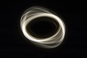 Parabolas Light Painting