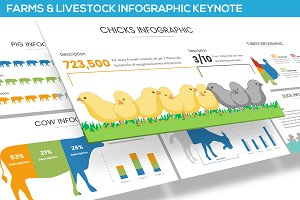 Farms and Livestock Infographic PPT