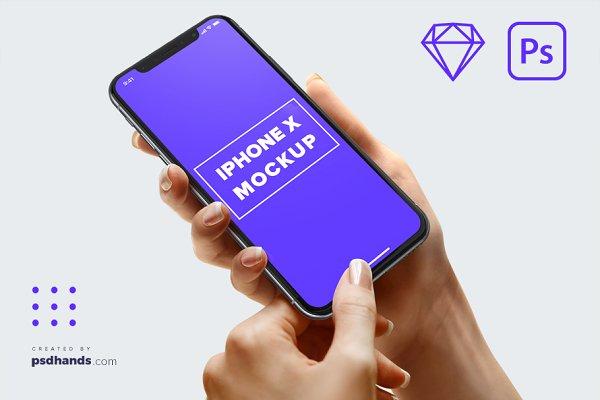 iPhone in Hand mockup Multi Device…