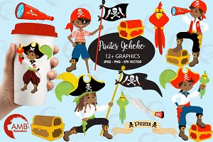 Pirates Boys Clipart AMB-174