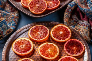 Sicilian blood orange fruits