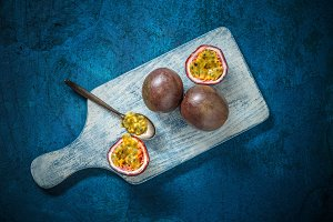 Fresh juicy passion fruit